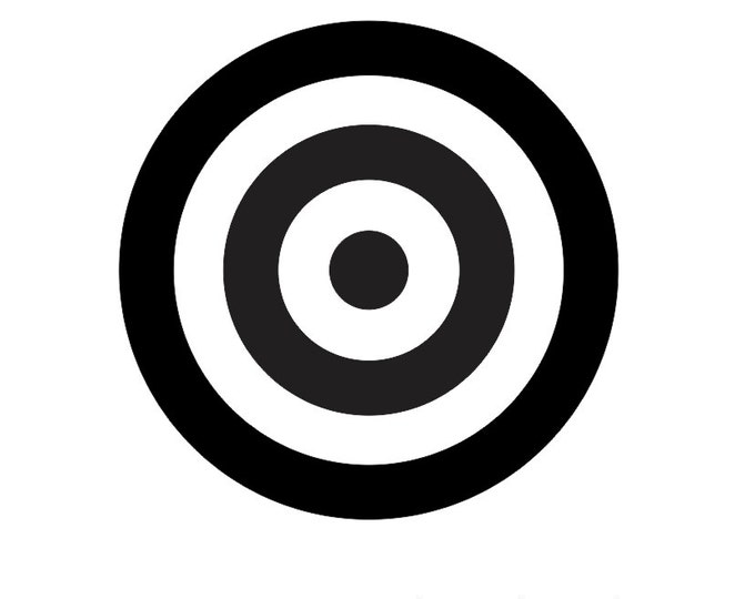LARGE Target Vinyl Decal *Choose Size & Color* Target Vinyl Sticker - Apply to Any Clean Smooth Surface! Target Stickers Target Decals