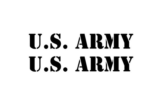 US Army Decals - Set of 2 US Army Stickers - US Army Lettering Decal - Military Sticker Military Decals Jeep Truck Vehicle Decals