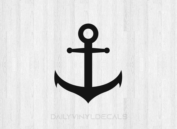 Anchor Decal - Ship Anchor Sticker - Boat Anchor Silhouette Ship Decal Boat Decal - Boat Car Truck Laptop Decals etc.