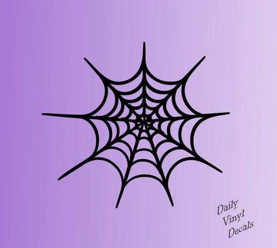 Set of 2 Spider Web Decals *Choose Size & Color* Spider Web Vinyl Stickers - Halloween Decor Vinyl Decals - Wall Decals - Apply Anywhere!