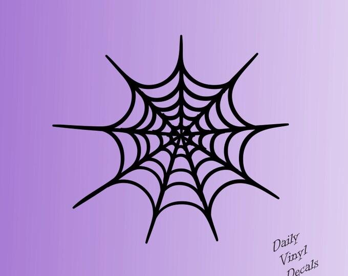 Set of 2 Spider Web Decals *Choose Size & Color* Spider Web Vinyl Stickers - Halloween Decor Vinyl Decals - Spider Sticker Halloween Decal