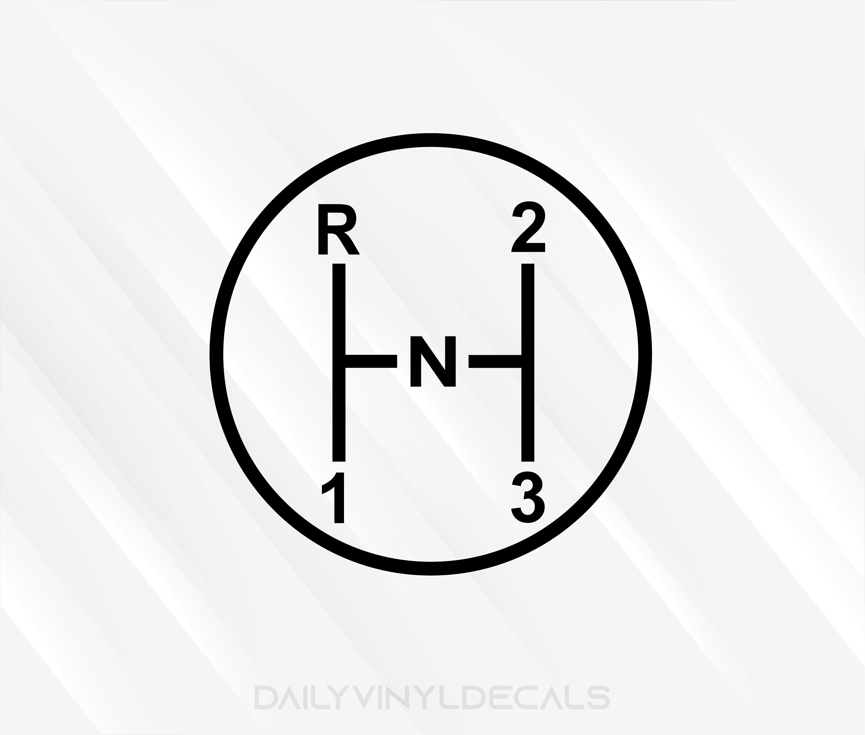 3 on the Tree Decal Gear Diagram Decal | 3 on the tree Diagram Car Truck  Stick Shift 3 Speed Transmission | Manual Car Shift Diagram StickerDailyVinylDecals
