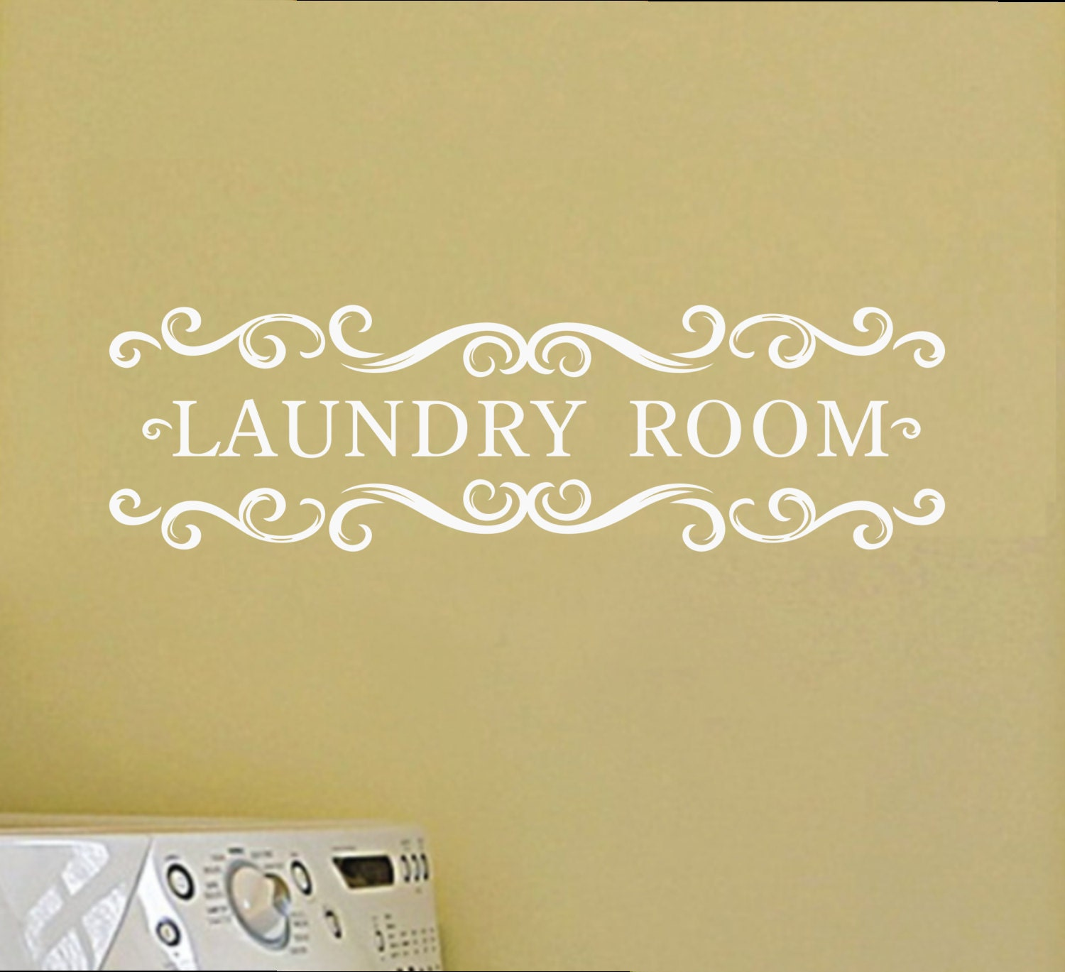 Laundry Room Vinyl Wall Decal - Vintage Style Wall Decal Wall Vinyl ...