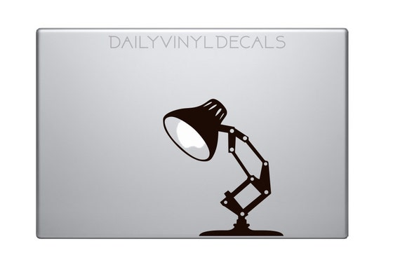 Desk Lamp Decal - Vintage Style Desk Lamp Vinyl Sticker - Mac Apple Logo Cover Laptop Macbook Decal etc. - Pixar Lamp Disney