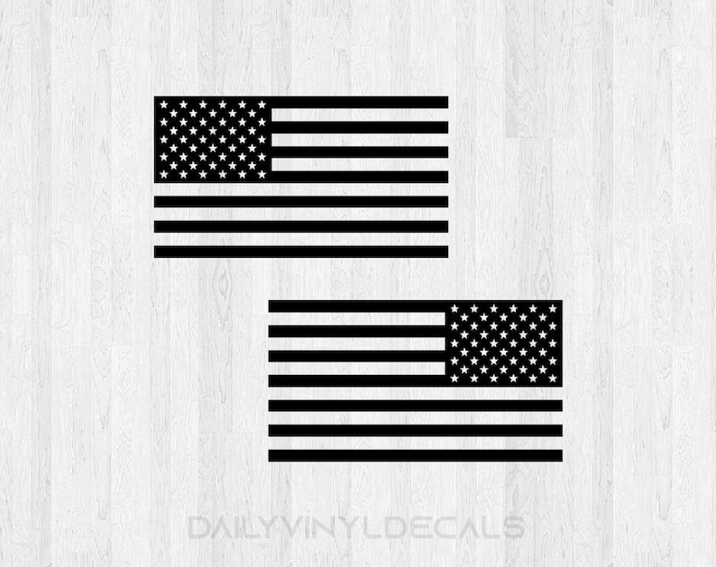 American Flag Decal Pair  Choose Size & Color American Flag image 0