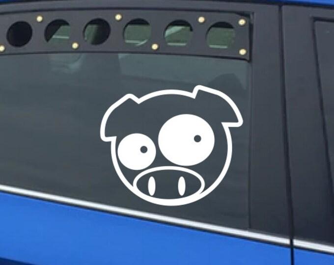 Pig Vinyl Decal *Choose Size & Color* Manga Mascot Inspired Subaru Pig Vinyl Sticker - Rally Cross Team WRX STI Impreza Legacy Car Lovers