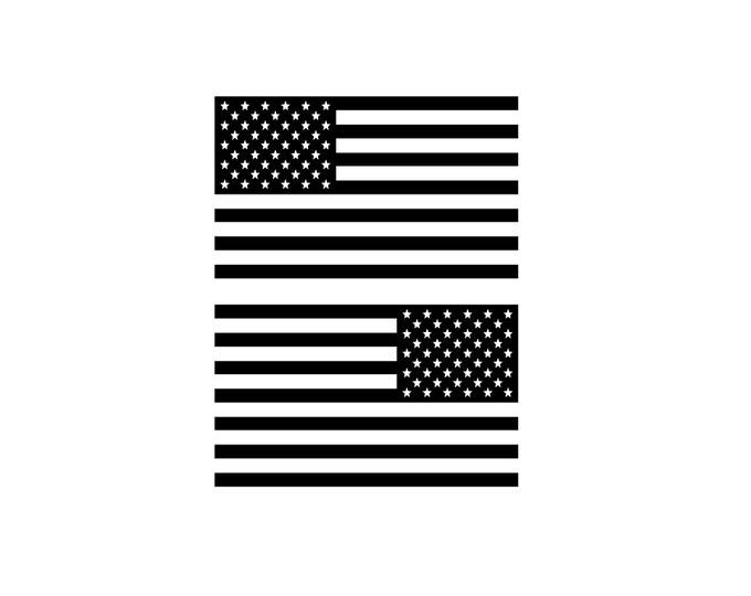 "5"" x 3"" American Flag Decal Vinyl Car Decal Matte or Gloss American Flag Stickers Car Stickers"