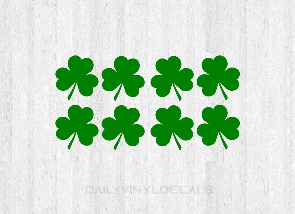 Celtic Shamrock Sticker Decal White Choose Size