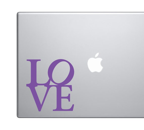 Love Decal Love Sticker *Choose size & color* Laptop MacBook Cell Phone Car Truck Stickers Decals etc. Apply to any clean smooth surface