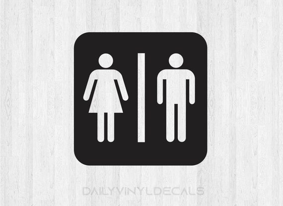 Public Restroom Decal Public Restroom Sticker - Bathroom Sign Decal Bathroom Decal - Bathroom Sticker - Mens Room Ladies Room