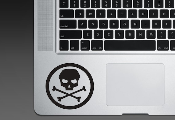 Skull Sticker - Skull Decal - Skull and Crossbones - Circle Decal Circle Sticker - Laptop Electronics Window Car Decals etc.