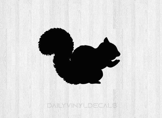 Squirrel Decal Squirrel Sticker - Wild Animal Decals Chipmunk Squirrel Silhouette Decal - Squirrel Silhouette Sticker