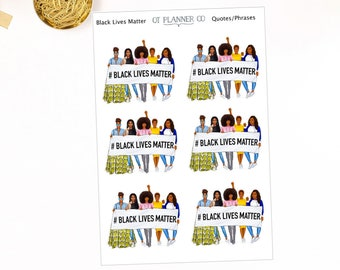 Black Lives Matter Planner Stickers, Social Justice, Advocacy, African American, Fashion Women, Racism, Health Equity