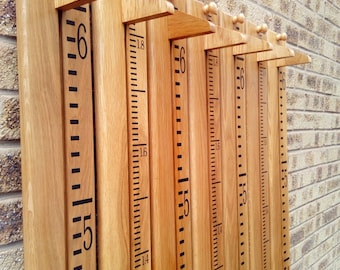 Wooden height chart etsy
