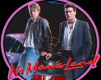 80's Charlie Sheen Classic No Man's Land Poster Art custom tee Any Size Any Color