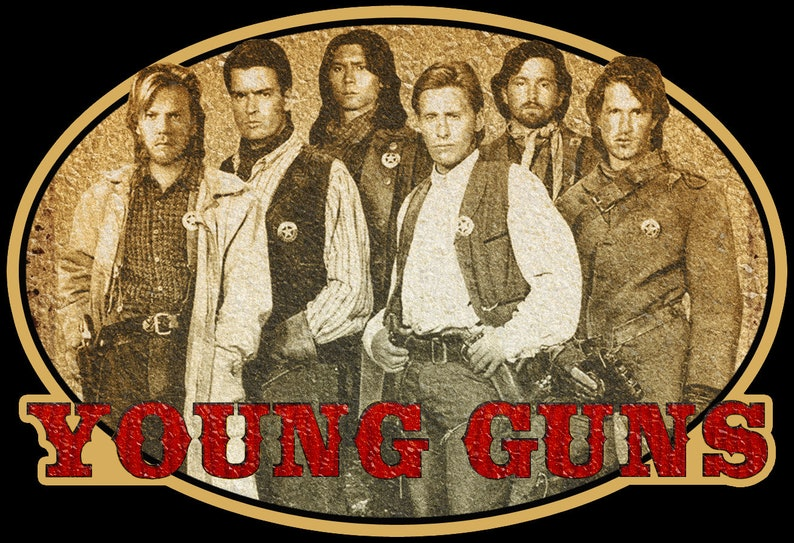 80/'s Western Classic Young Guns Poster Art custom tee Any Size Any Color