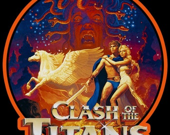 80's Fantasy Classic Clash Of The Titans Poster Art custom tee Any Size Any Color