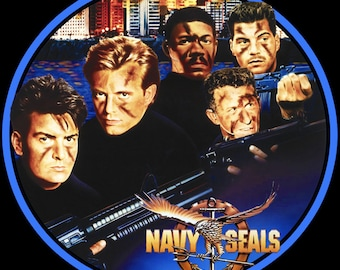 90's Charlie Sheen Classic Navy Seals Poster Art custom tee Any Size Any Color