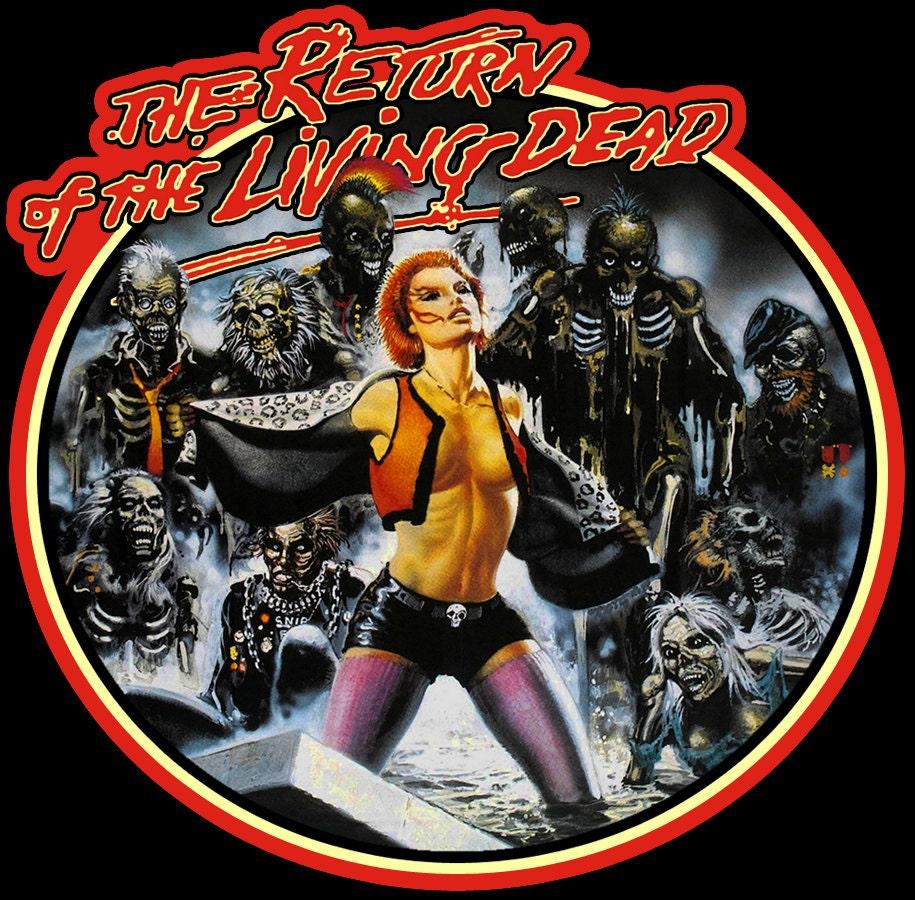 80 classique ' s Horror classique 80 le retour de la coutume de Living Dead Français affiche Art tee toute taille toute couleur 8156f4