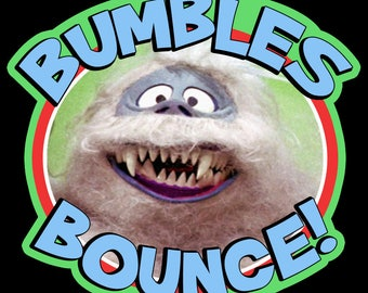 "60's Christmas Classic Rudolph The Red-Nosed Reindeer ""Bumbles Bounce!"" custom tee Any Size Any Color"