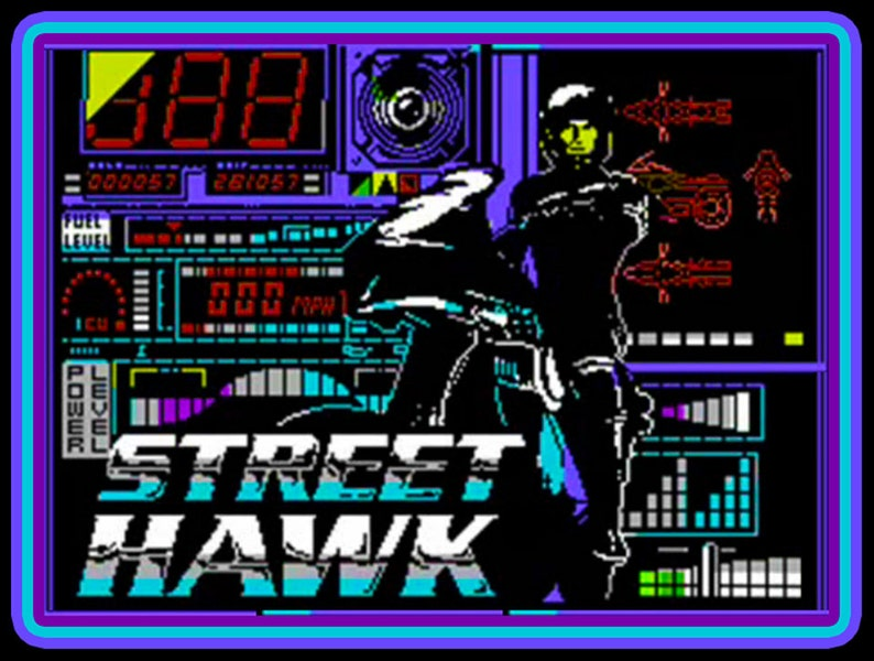 80's TV Classic Street Hawk Commodore 64 custom tee Any Size Any Color