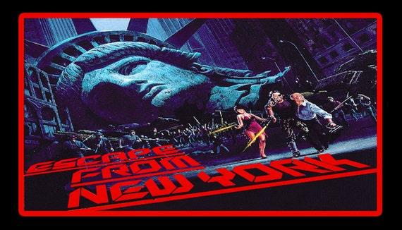 Escape From New York Poster.80 S John Carpenter Cult Classic Escape From New York Etsy