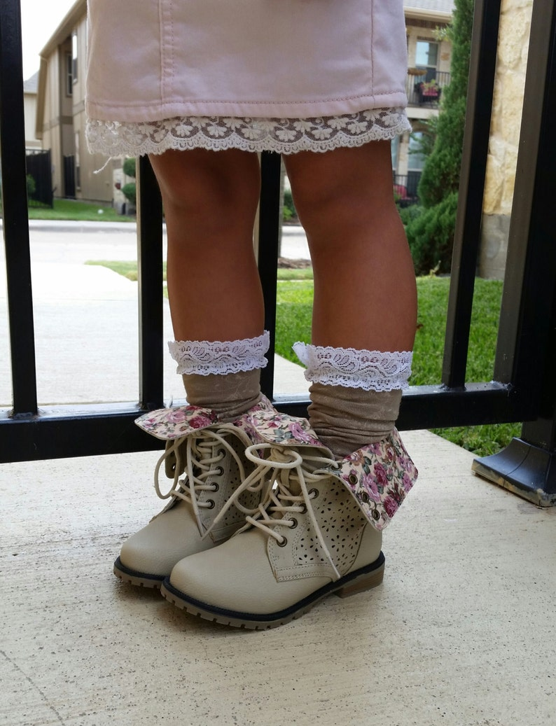 446dfbf3749e Toddler Girl Lace Leg Warmers for boots lace boot socks Fall