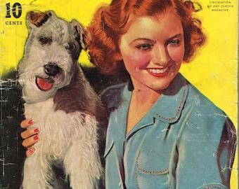 Modern Screen - Magazine - September 1939 - Asta and Myrna Loy