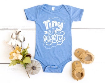 ea8dc89fe Tiny But Mighty Bodysuit, Tiny But Mighty Baby, Newborn Baby Tee, Tiny and  Mighty Tee, Tiny Fighter Shirt, Mighty Fighter Tee, Infant Tee