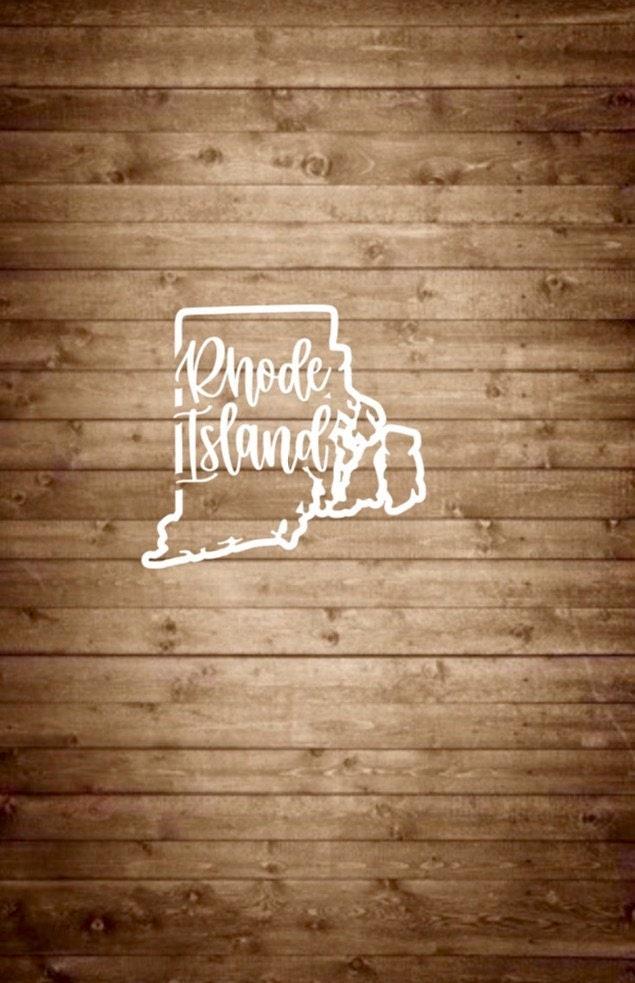 Rhode island decal rhode island sticker ri state decal ri state sticker ri car decal state car decal custom decal custom sticker