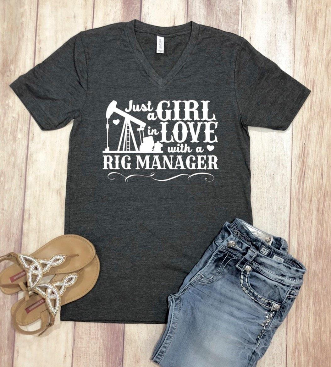 edb9bbf8 Rig Manager Shirt, Oilfield Shirt, Oilfield Wife Shirt, Oilfield ...