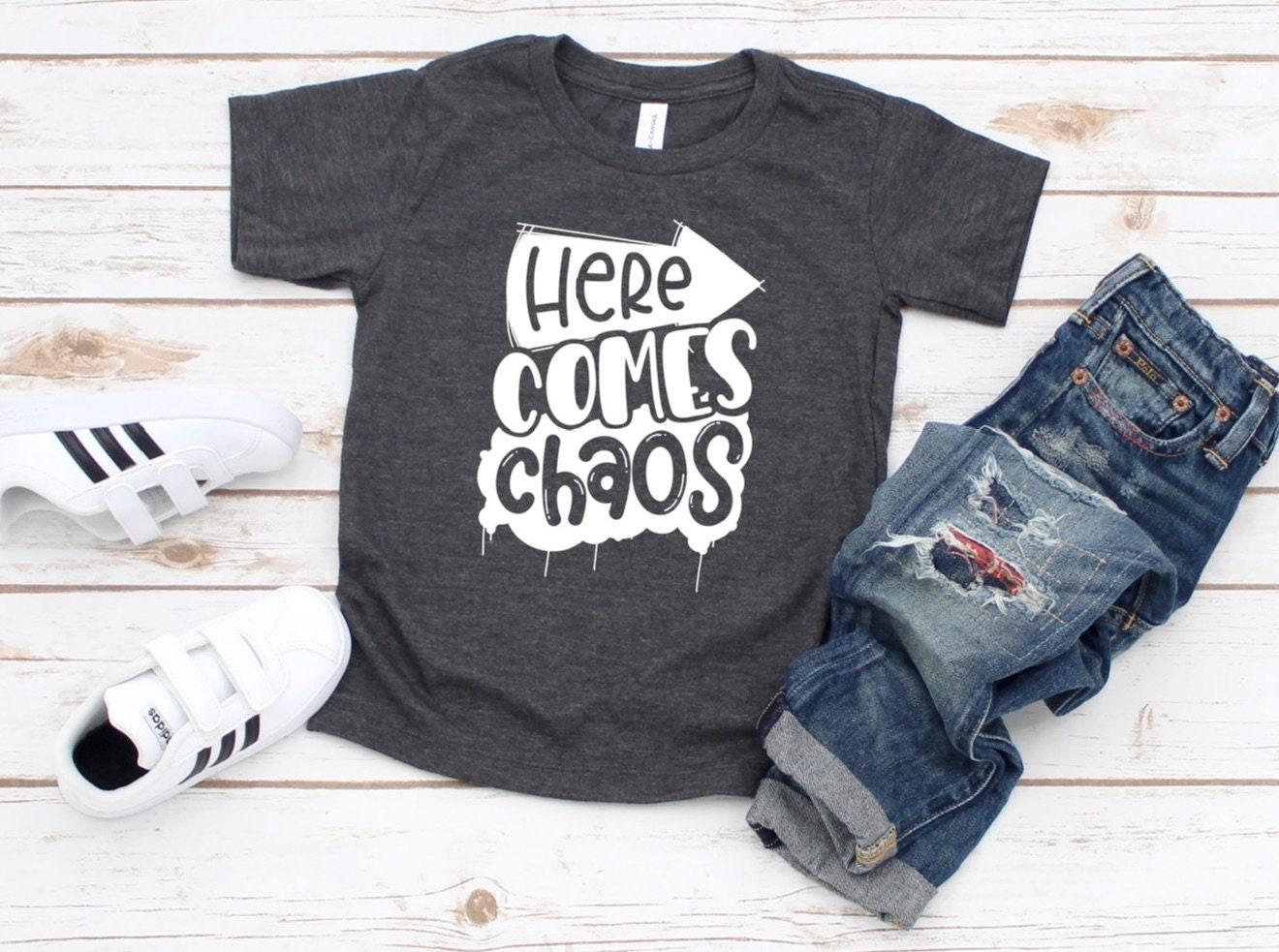 bc5609b2c691c Here Comes Chaos Shirt, Boys Chaos Shirt, Funny Boy Shirt, Cute ...