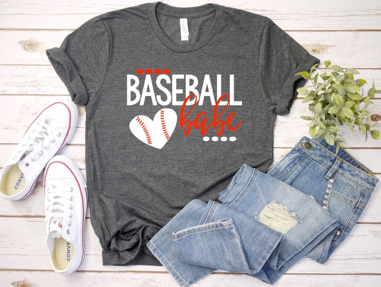 b6991014d Baseball Babe shirt, Baseball Wife Shirt, Baseball Babe Tshirt, Baseball  Girlfriend Shirt, Baseball Wife Tee, Baseball Shirt