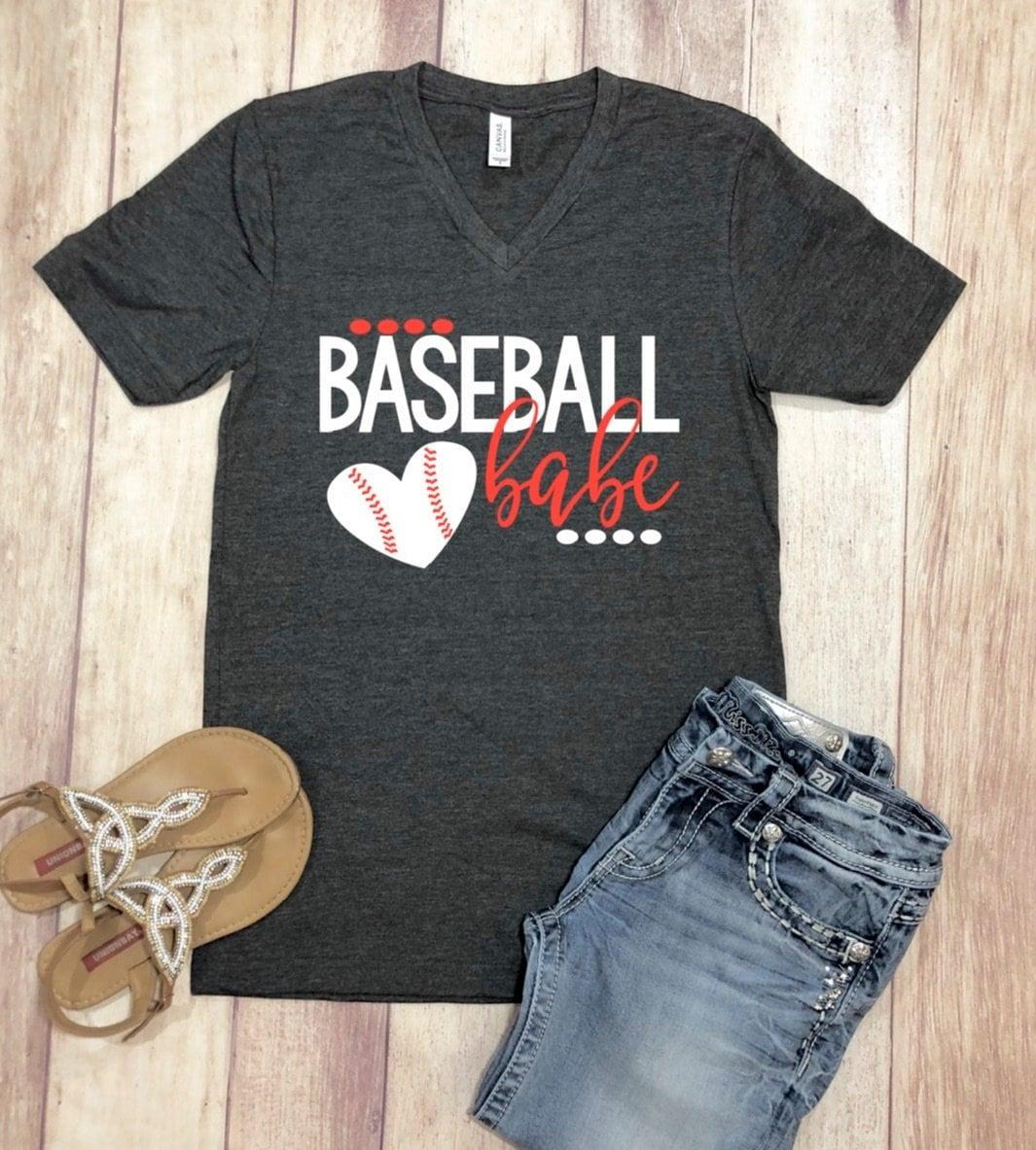 c94cce473 Baseball Babe shirt, Baseball Wife Shirt, Baseball Babe Tshirt ...