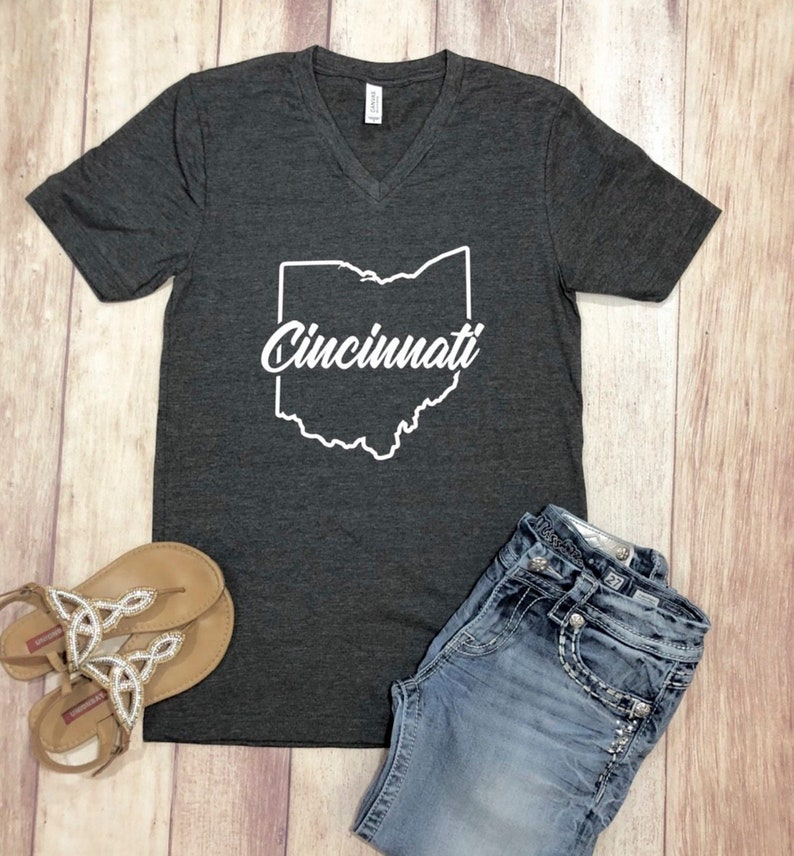 6d93d1b0 Cincinnati Shirt Cincinnati Ohio Shirt Cinci Shirt Ohio   Etsy