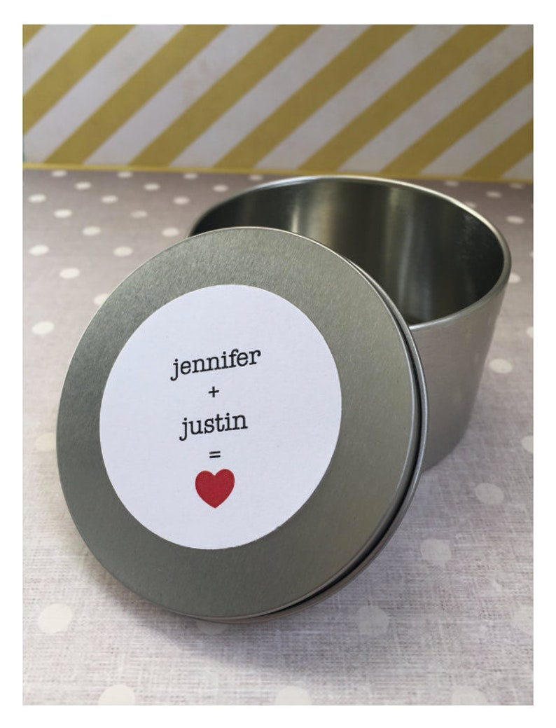 Party Favors 5 PCS Round Silver Tins with Custom Text and Photo for Birthdays Weddings and Special Events