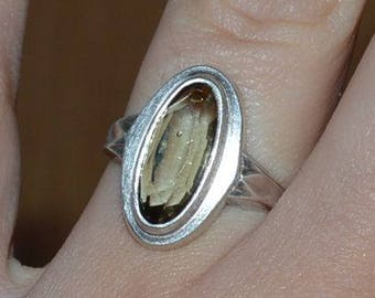 Vintage sterling silver 835 ring - size 51