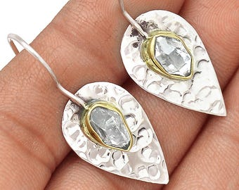 Gorgeous Abstract Herkimer Diamond Earrings