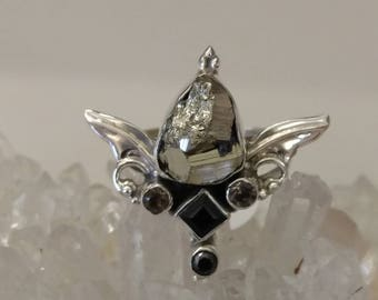 Sacred Angel Pyrite Ring Size 9