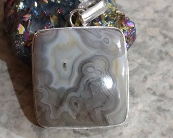 CLEARANCE* Crazy Lace Agate Pendant Necklace