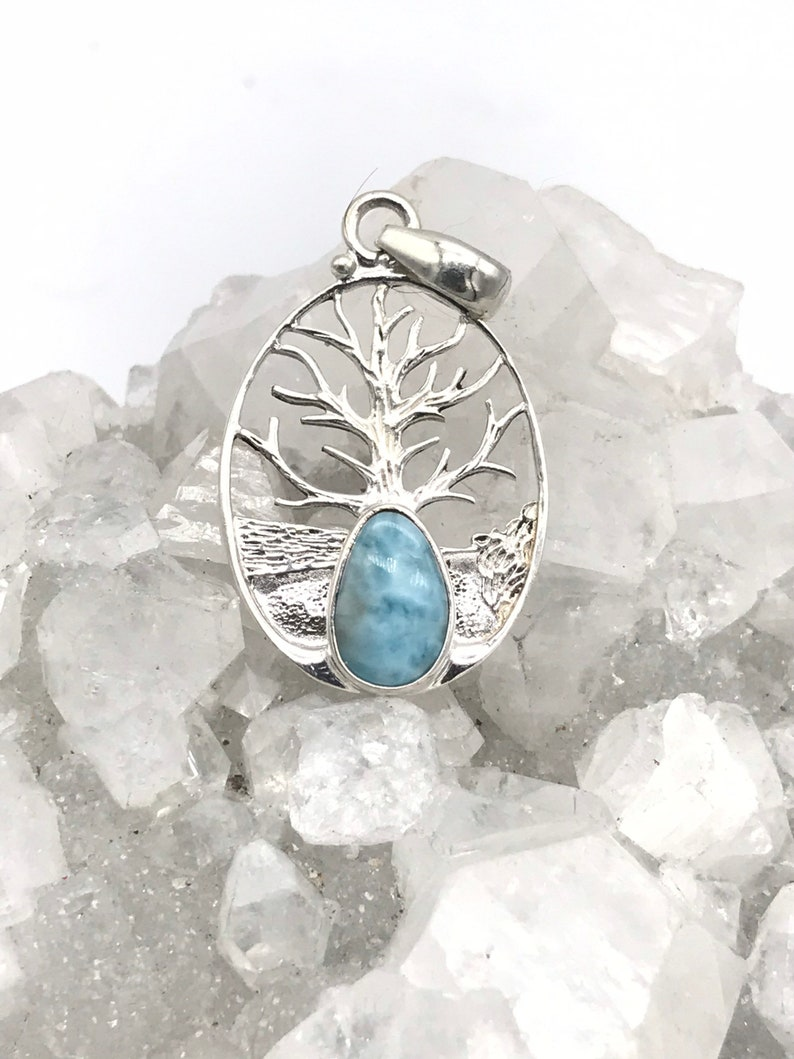 Larimar Tree of Life Pendant