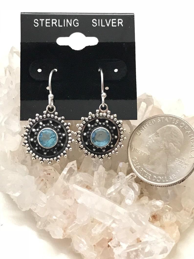 CLEARANCE Blue Topaz  Dangle Earrings