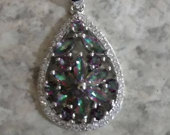 Mystic Topaz Pendant Necklace