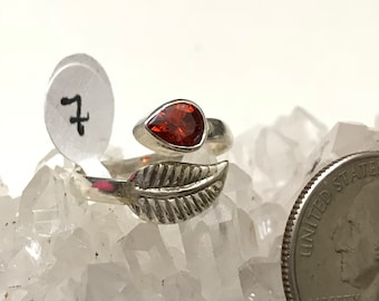 Garnet Party Ring Size 7