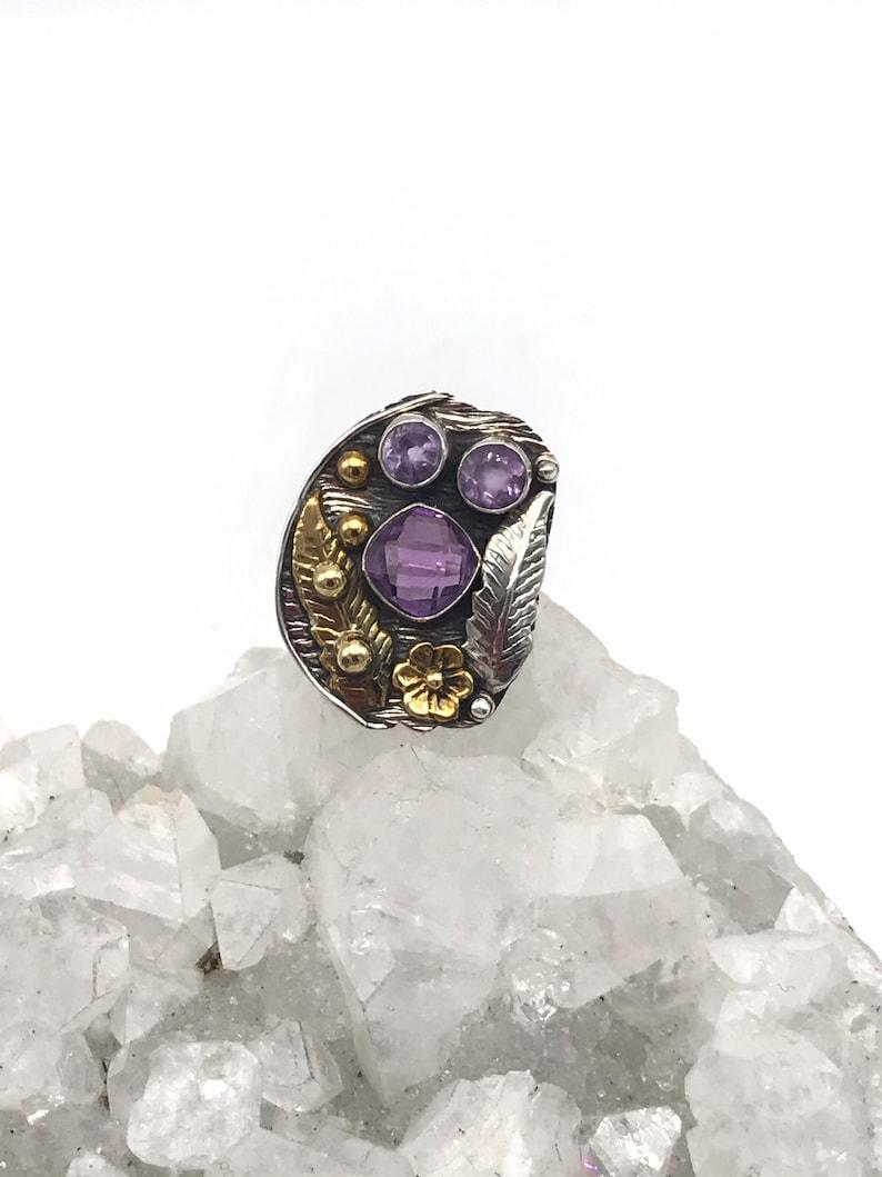 Beautiful Amethyst Ring Size 6