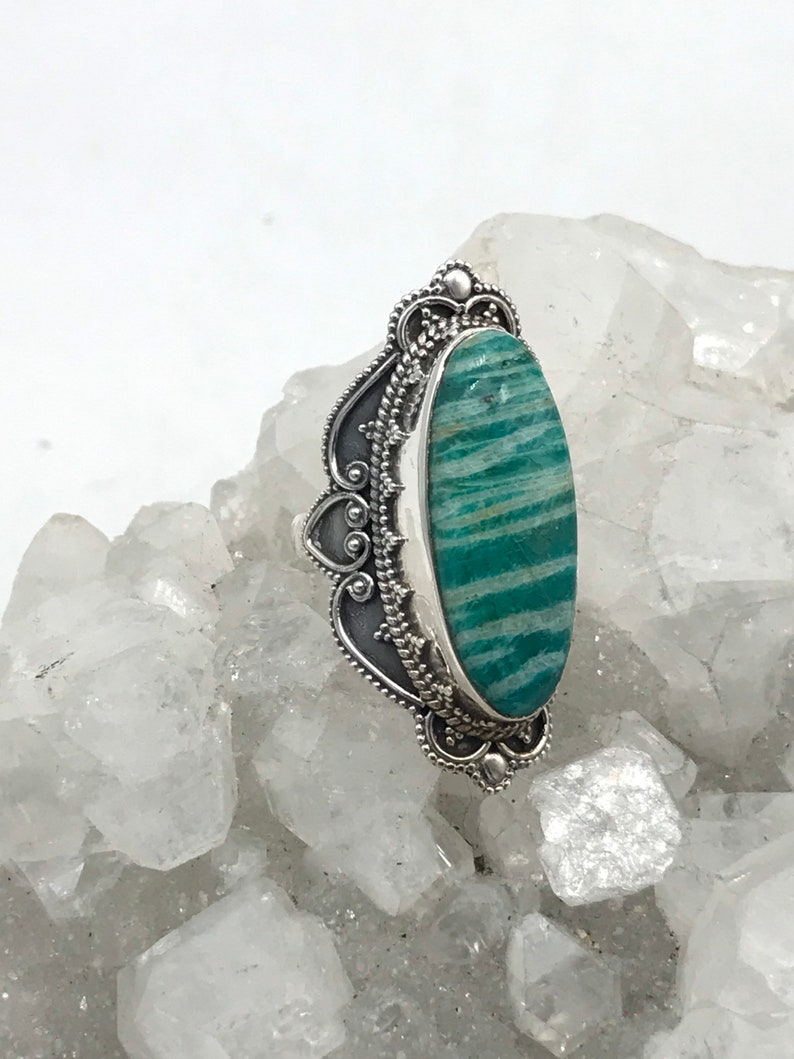 Russian Amazonite Ring  Size  6