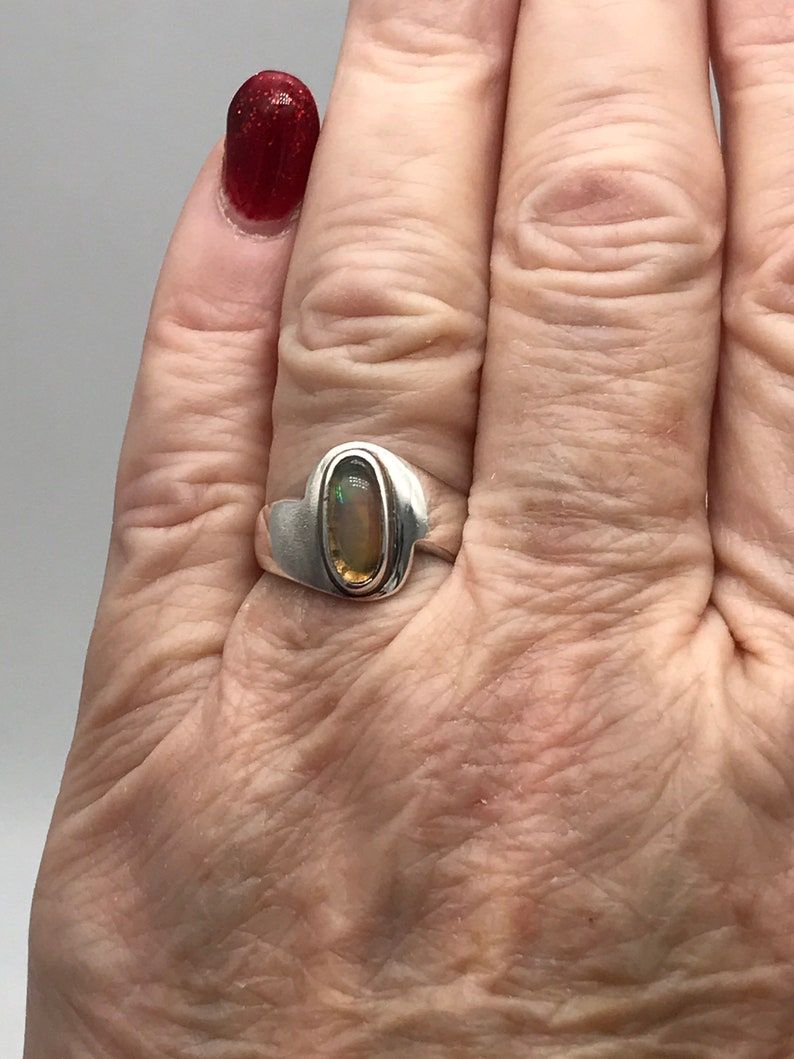 Size 7 Ethiopian Opal Ring