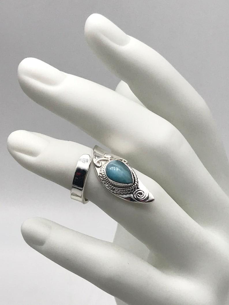 Larimar Ring Size 5 12-Adjustable