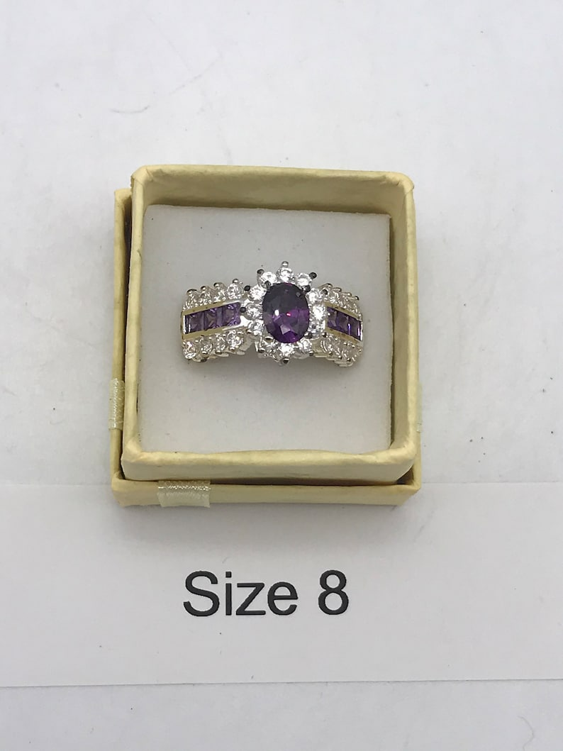 CZ Crystal Ring Size 7 12-8 12