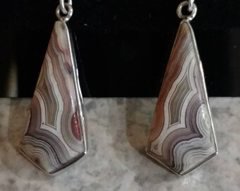 Crazy Lace Agate Charm Earrings